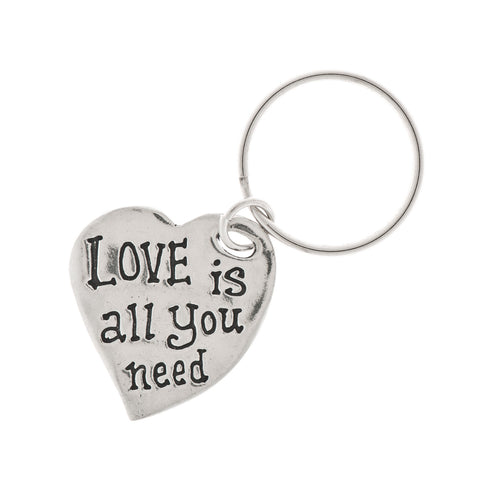 Love Is All You Need Pewter Key Ring