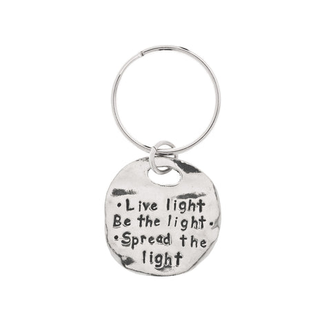 Spread the Light Pewter Key Ring