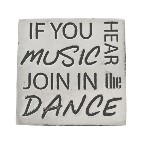 Join the Dance Small Pewter Plaque