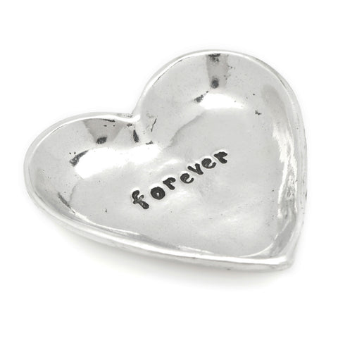 Forever Heart Small Pewter Trinket Dish