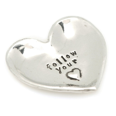 Follow Your Heart Small Pewter Trinket Dish