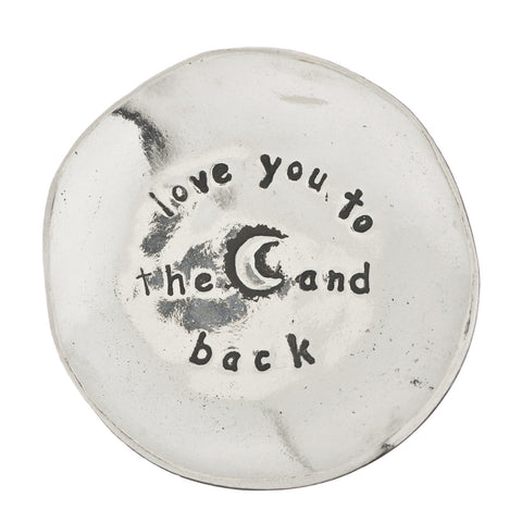 Love You to the Moon Small Pewter Trinket Dish