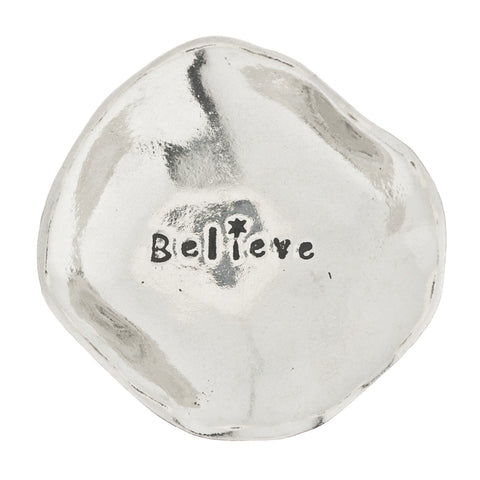 Believe Small Pewter Trinket Dish
