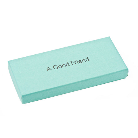 A Good Friend Pewter Paper Weight Gift Box