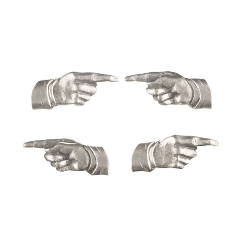 Index Finger Pewter Magnets
