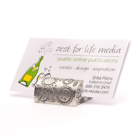 Cosmic Pewter Business Card Holder