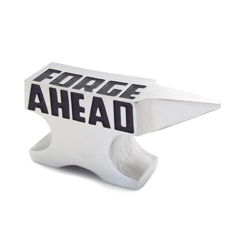 Forge Ahead Anvil Inspirational Paperweight by Vilmain