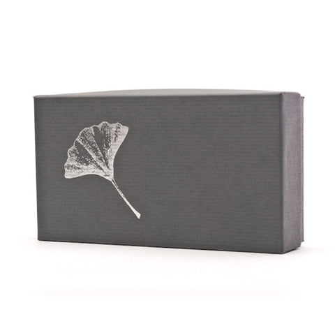 Ginko Leaves Pewter Napkin Ring Set