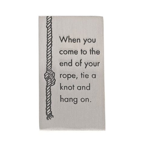 When You Get to the End of Your Rope Hang On FDR Quote Paperweight