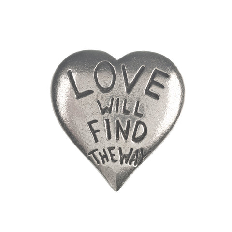 Love Will Find A Way Pewter Pocket Compass