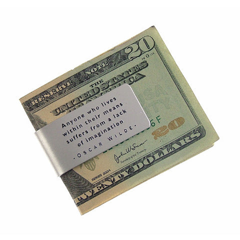 Oscar Wilde Quote Money Clip