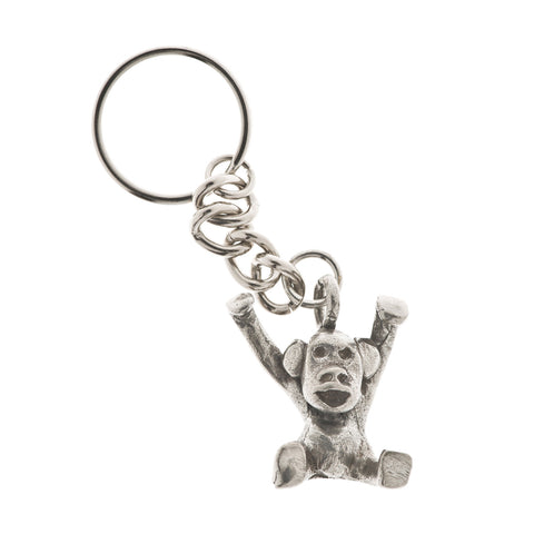 Monkeying Around Pewter Key Ring