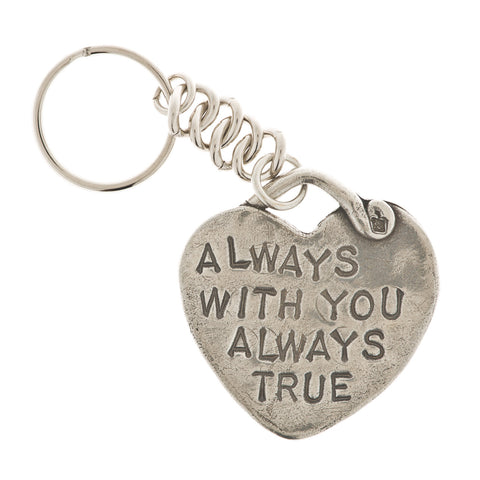 Always With You Pewter Heart Key Ring