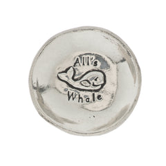 All's Whale Small Pewter Trinket Dish