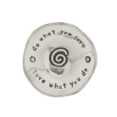 Do What You Love Small Pewter Trinket Dish