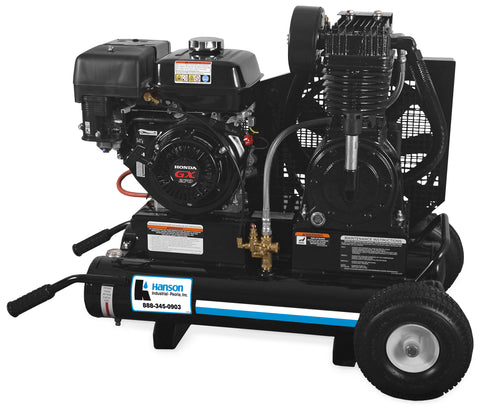 Hanson Work Pro® Series 8-Gallon Single or Two Stage Electric or Gasoline Air Compressor