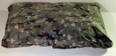 Large green military camo dog pet bed