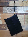 Hello/ Goodbye Clutch Black