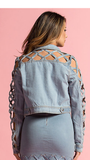 Caged Crop Jacket