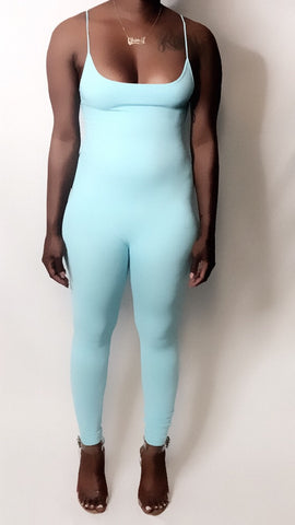 Nothing basic jumpsuit candy blue