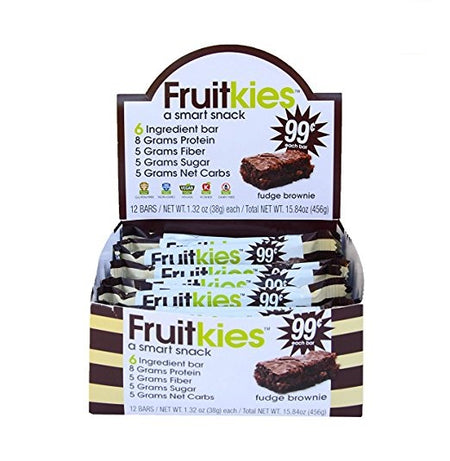 Fruitkies 99c. Protein Chocolate Fudge Brownie Bar