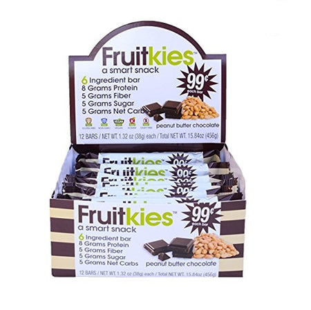 Fruitkies 99c. Protein Chocolate Peanut Butter Bar