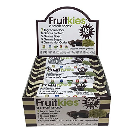 Fruitkies 99c. Protein Chocolate Matcha Green Tea Bar