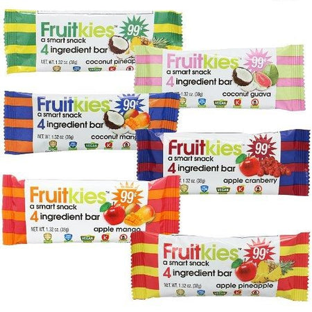 Fruitkies 99c. 6 Flavor Snack Bar Variety Pack (3 Bars of Each Flavor + 2 Extra Bonus = 20 pack)