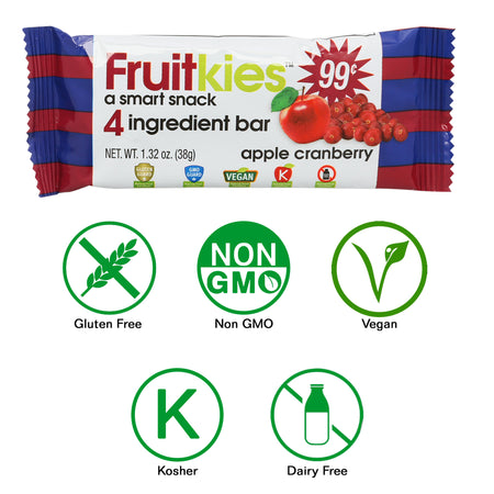 Fruitkies Apple Cranberry Snack Bar 99cents by Keep healthy Inc