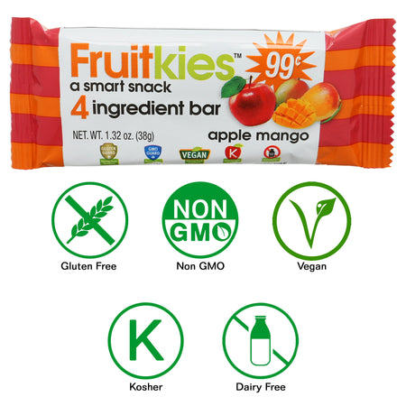 Fruitkies Apple Mango Snack Bar 99cents by Keep Healthy Inc