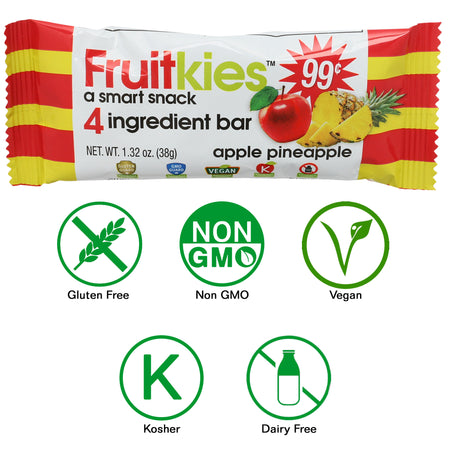 Fruitkies Apple Pineapple Snack Bar 99 Cents by Keep Healthy