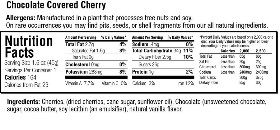 Keep Healthy Fruitkies Chocolate Covered Cherries snack bar