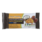 Keep Healthy Chocolate Covered Apricot Coconut Date Bar