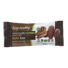 Keep Healthy Chocolate Covered Pecan Date Snack Bar
