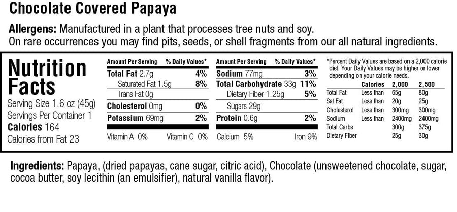 Keep Healthy Fruitkies Chocolate Covered Papaya Snack Bar