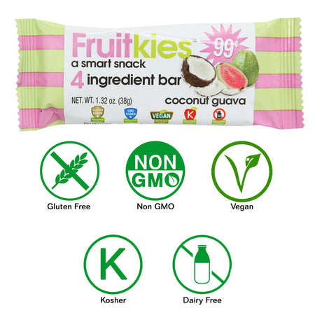 Fruitkies Coconut Guava Snack Bar 99 Cents