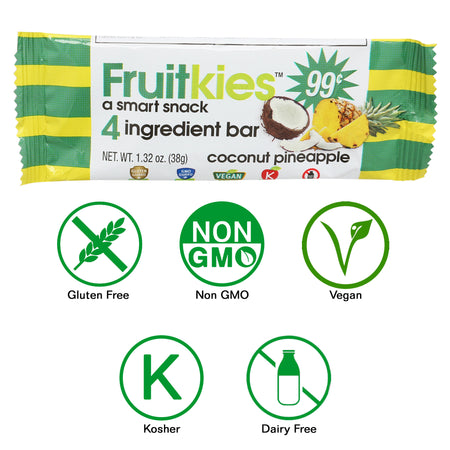 Fruitkies Coconut Pineapple Snack Bar 99 cents