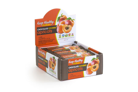 healthy snack bar fruitkies chocolate covered apricot