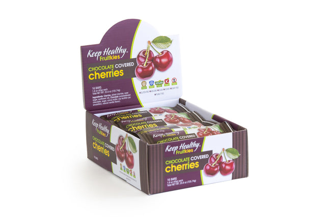 healthy snack bar fruitkies chocolate covered cherries