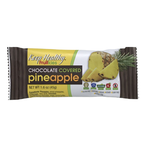 Keep Healthy Fruitkies Chocolate Covered Pineapple Bar