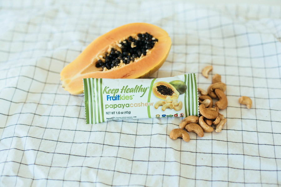 healthy snack bar fruitkies papaya