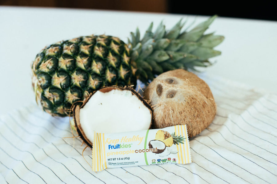 healthy snack bar fruitkies pineapple coconut