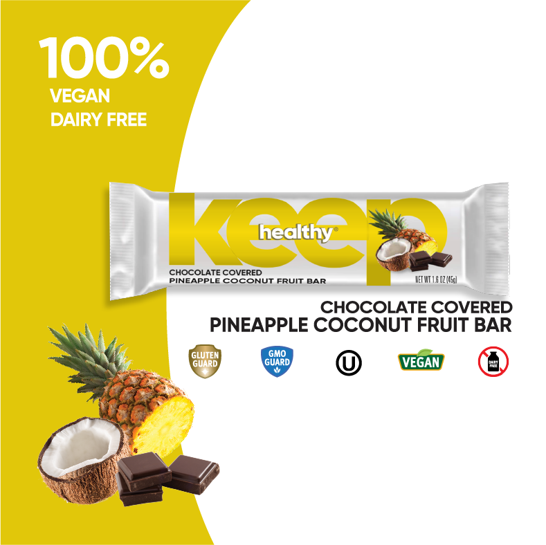 Chocolate Covered Pineapple Coconut Fruit and Nut 16 Bar Box