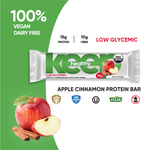 Organic Low Glycemic Apple Cinnamon 15g. Protein 12 Bar Box