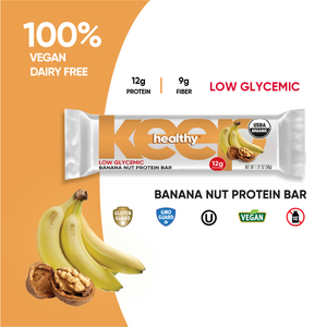 Organic Low Glycemic Banana Nut 12g. Protein 12 Bar Box