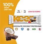 Organic Low Glycemic Chocolate Coconut 15g. Protein 12 Bar Box