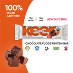 Organic Low Glycemic Chocolate Fudge 15g. Protein 12 Bar Box