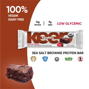 Organic Low Glycemic Sea Salt Brownie 12g. Protein 12 Bar Box
