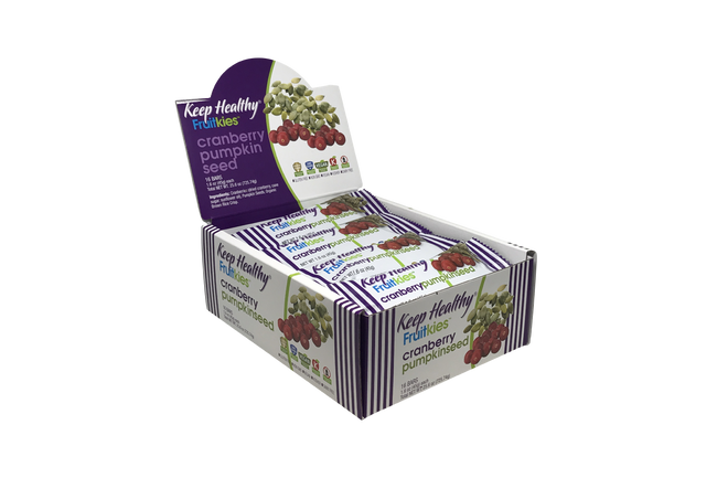 Keep Healthy Fruitkeis Cranberry Pumpkinseed 16 Bar Caddy
