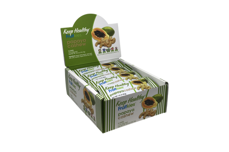 Keep Healthy Fruitkies Papaya Cashew 16 Bar Caddy
